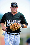 16 March 2009: Florida Marlins' infielder Dallas McPherson in action during a Spring Training game against the Washington Nationals at Roger Dean Stadium in Jupiter, Florida. The Nationals defeated the Marlins 3-1 in the Grapefruit League matchup. Mandatory Photo Credit: Ed Wolfstein Photo