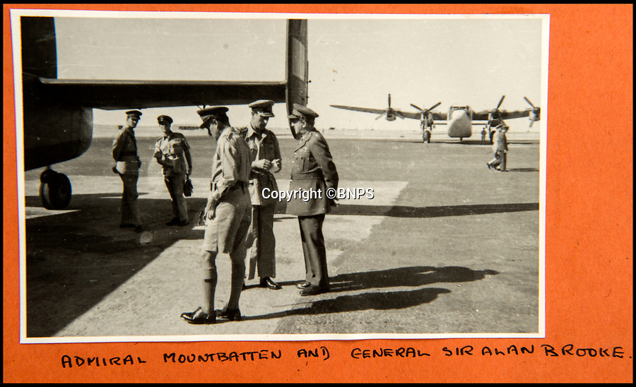 BNPS.co.uk (01202 558833)<br /> Pic: C&amp;T/BNPS<br /> <br /> Lord Mountbatten and General Brooke in Marrakesh in January 1943 after Churchill had taken Roosevelt to the desert city after the famous conference in Casablanca.<br /> <br /> A humble secretary's remarkable first hand archive of some of the most momentous events of WW2 has come to light.<br /> <br /> 'Miss Brenda Hart' worked in the Cabinet Office during the last two years of the war, travelling across the globe with the Allied leaders as the conflict drew to a close.<br /> <br /> Her unique collection of photographs and momentoes of Churchill, Stalin and other prominent Second World War figures have been unearthed after more than 70 years.<br /> <br /> The scrapbooks, which also feature Lord Mountbatten and Vyacheslav Molotov, were collated by Brenda Hart who, in her role as secretary to Churchill's chief of staff General Hastings Ismay, enjoyed incredible access to him and other world leaders.<br /> <br /> She also wrote a series of letters which give fascinating insights, including watching Churchill and Stalin shaking hands at the Bolshoi ballet in 1944, being behind Churchill as he walked out on to the balcony at the Ministry of Health to to wave to some 50,000 Londoners on VE day and even visiting Hitler's bombed out Reich Chancellery at the end of the war.<br /> <br /> This unique first hand account, captured in a collection of photos, passes, documents and letters are being sold at C&amp;T auctioneers on15th March with a &pound;1200 estimate.