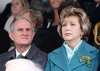 17/03/2011.Martin McAleese & President of Ireland Mary McAleese.during the St. Patrick's Day festival in Dublin's City Centre..Photo: Gareth Chaney Collins