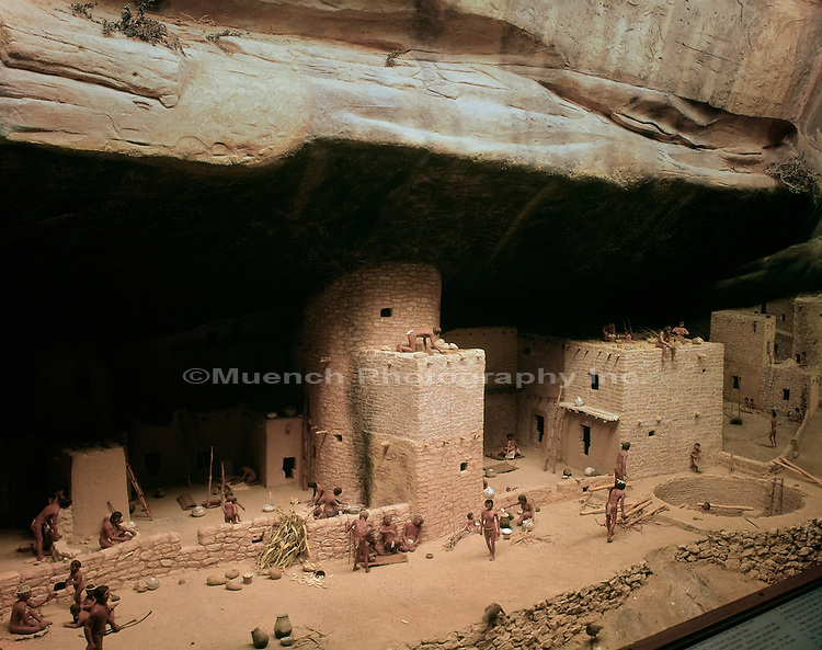 Diorama Of Classic Pueblo Museum Muench Photography