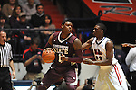 Mississippi State's Renardo Sidney (1) vs. Ole Miss' Reginald Buckner (23) at the C.M. &quot;Tad&quot; Smith Coliseum in Oxford, Miss. on Wednesday, January 18, 2012. (AP Photo/Oxford Eagle, Bruce Newman).