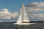 Custom 48 &quot;waterwitch&quot; cruising, Narragansett Bay, in Newport Rhode Island.