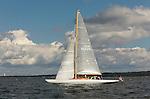"Custom 48 ""waterwitch"" cruising, Narragansett Bay, in Newport Rhode Island."