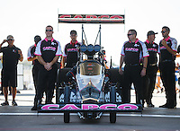 Oct 16, 2016; Ennis, TX, USA; Crew members for NHRA top fuel driver Steve Torrence during the Fall Nationals at Texas Motorplex. Mandatory Credit: Mark J. Rebilas-USA TODAY Sports