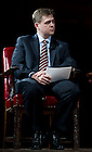 September 28, 2011; Moderator, Professor David Campbell listens to the participants during their discussion titled, &quot;The Conversation: Developing the Schools Our Children Deserve&quot; part of the 2011-12 Notre Dame Forum at the Leighton Concert Hall. Photo by Barbara Johnston/University of Notre Dame