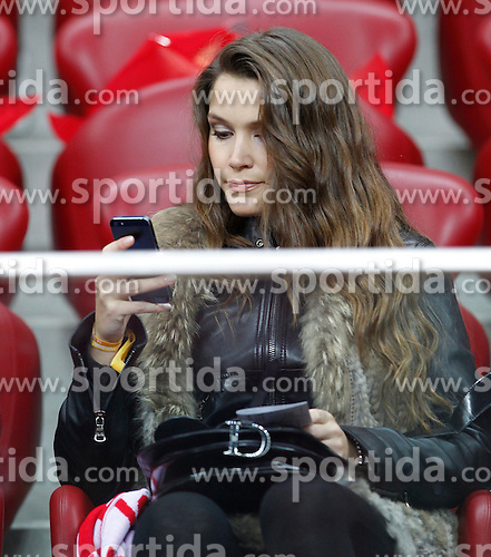 14.10.2014, Nationalstadium, Warsaw, POL, UEFA Euro Qualifikation, Polen vs Schottland, Gruppe D, im Bild NATALIA JAKULA - DZIEWCZYNA TOMASZ IWAN // during the UEFA EURO 2016 Qualifier group D match between Poland and Scotland at the Nationalstadium in Warsaw, Poland on 2014/10/14. EXPA Pictures &copy; 2014, PhotoCredit: EXPA/ Newspix/ Michal Chwieduk<br /> <br /> *****ATTENTION - for AUT, SLO, CRO, SRB, BIH, MAZ, TUR, SUI, SWE only*****
