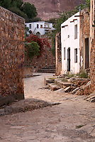 Street in the ghost town of Cerro de San Pedro, San Luis Potosi state, Mexico