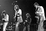 Eric Clapton 1973 Rainbow Theatre comeback concert here with Pete Townshend and Ron Wood. <br />&copy; Chris Walter