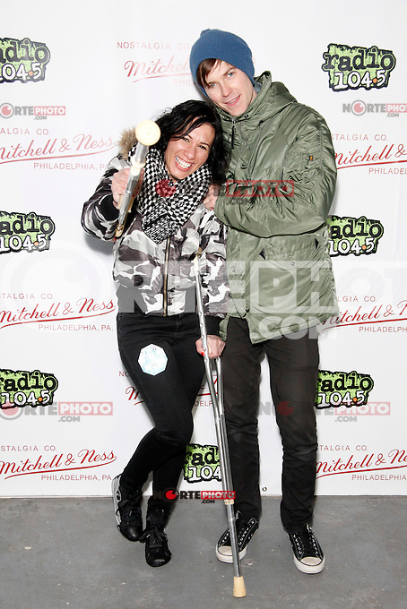 PHILADELPHIA, PA - JANUARY 26 :  Matt & Kim pictured backstage at Radio 104.5's Winter Jam at The Piazza in Philadelphia, Pa on January 26, 2013  © Star Shooter / MediaPunch Inc /NortePhoto /NortePhoto