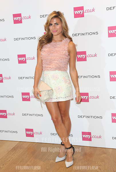 Zoe Hardman at the Launch party for Very.co.uk introducing the new fashion brand Definitions at Somerset House<br /> London. 04/09/2013 Picture by: Henry Harris / Featureflash