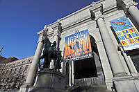 New York City, NY, American Museum of Natural History, equestrian statue of Theodore Roosevelt, Sculptor James Earle Fraser