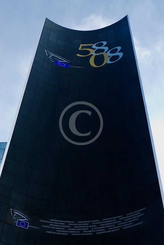 Belgium, Brussels, European Parliament building
