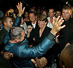 Former US Attorney General Janet Reno gets jiggy with it as the Florida gubernatorial candidate dances with Level Nightclub owner Gerry Kelly during a dance party fundraiser.