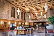 Interior of Liberty Bank, (First Financlal) lobby in Liberty Tower, Dayton Ohio