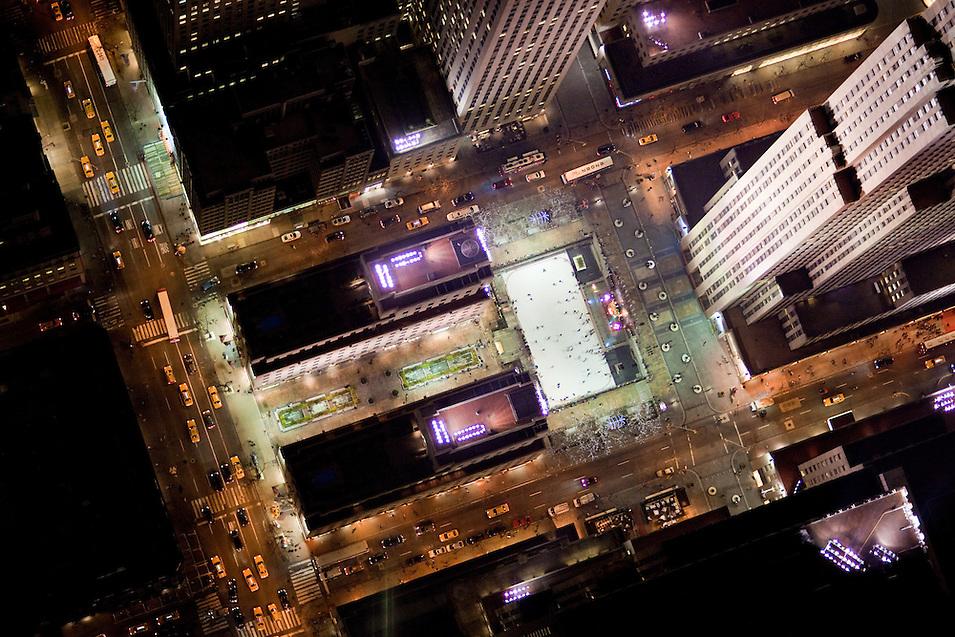 Dark New York streets