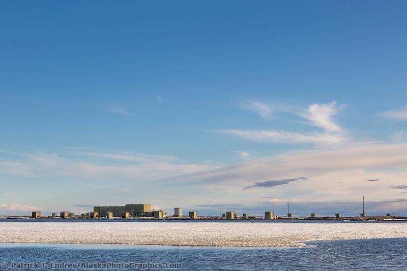 Oil industry development, Arctic North Slope, Alaska.