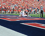Ole Miss defensive end C.J. Johnson (10) recovers a fumble for a touchdown vs. Auburn offensive lineman Patrick Miller (51) and Auburn quarterback Clint Moseley (15) at Vaught-Hemingway Stadium in Oxford, Miss. on Saturday, October 13, 2012.