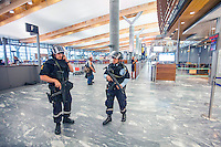 220711 Oslo Airport Gardermoen security following terror