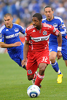 Dasan Robinson...Kansas City Wizards played to a 2-2 tie with Chicago Fire at Community America Ballpark, Kansas City, Kansas.