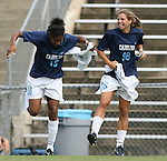 1 September 2007: North Carolina's Ariel Harris (10) and Tobin Heath (98). The University of South Carolina Gamecocks defeated the University of North Carolina Tar Heels 1-0 at Fetzer Field in Chapel Hill, North Carolina in an NCAA Division I Womens Soccer game.