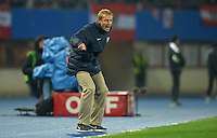 VIENNA, Austria - November 19, 2013: Manager Jurgen Klinsmann during the international friendly match between Austria and the USA at Ernst-Happel-Stadium.