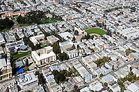 aerial photograph residential neighborhood at University of San Francisco USF San Francisco California