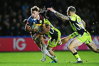 Danny Care of Harlequinstakes on the Sale Sharks defence. Aviva Premiership match, between Harlequins and Sale Sharks on January 7, 2017 at the Twickenham Stoop in London, England. Photo by: Patrick Khachfe / JMP