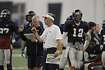 Ole Miss assistant coach David Lee at spring football practice in the IPF in Oxford, Miss. on Monday, April 4, 2011.