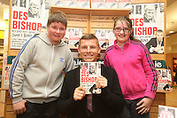 NO REPRO FEE. 8/10/2011.Eason, Ireland's leading retailer of books, stationery, magazines and lots more, hosted a book signing by comedian Des Bishop. Pictured at Eason O'Connell Street, Dublin are fans Dean Marshal 13 and Emma O Hare 12 from Crumlin and Des Bishop who signed copies of his new book My Dad was nearly James Bond. Follow Eason on Twitter - @easons For further information, please contact: Aoife McDonald WHPR 087 4100777 Picture James Horan/Collins Photos