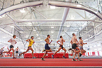Western Track & Field conducts its first practice in the school's new Field House and Recreation Center, set to open in spring 2014.
