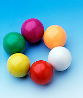 ARRANGEMENT OF MAGNETIC MARBLES - Circular Shape From Attraction of Opposite Poles. Magnetic marbles contain small rod magnets with poles which affect their behavior