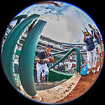 11 September 2016: Washington Nationals outfielder Trea Turner hops up the steps of the dugout to take the field for a game against the Philadelphia Phillies at Nationals Park in Washington, DC. The Nationals edged out the Phillies 3-2 to take the rubber match of their 3-game series. Mandatory Credit: Ed Wolfstein Photo *** RAW (NEF) Image File Available ***