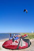 Ile du Havre-Aubert, Iles de la Madeleine, Quebec, Canada - Kite Surfing at Dune de l'Ouest - (West Dune, Amherst Island, Magdalen Islands)