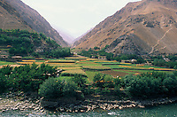 Khenj village and is Valley at the foot of the Panshir river, heart of the Afghan Emeralds