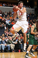Nov. 12, 2010; Charlottesville, VA, USA;  Virginia Cavaliers guard Joe Harris (12) grabs a rebound during the game against William & Mary at the John Paul Jones Arena.  Mandatory Credit: Andrew Shurtleff