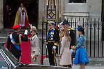 Mcc0031197 . Daily Telegraph..Fixed Point..Beatrice & Eugenie arriving at Westminster Abbey..The Royal Wedding of Prince William and Kate Middleton..London 29 April 2011