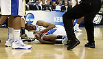 Senior forward Perry Stevenson calls a timeout after winning possession of the ball during the first half of UK's second round  win over Wake Forest in the NCAA tournament at New Orleans Arena on Saturday, March 20, 2010. Photo by Britney McIntosh | Staff