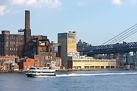 The historic Domino Sugar Refinery in Williamsburg, Brooklyn, New York.