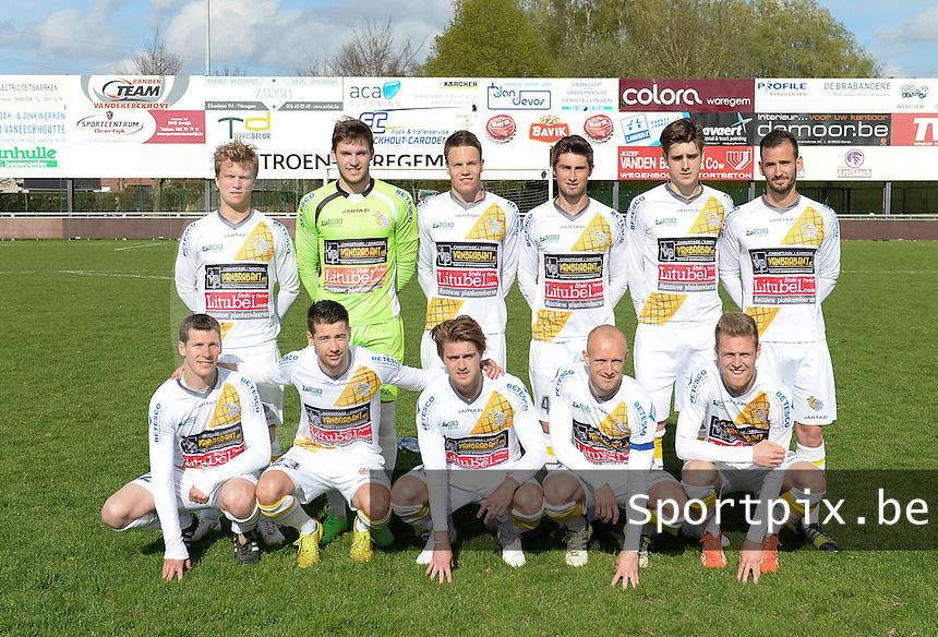 Finale Beker van West-Vlaanderen  KSV Rumbeke -  SC Wielsbeke : ploegfoto SC Wielsbeke<br /> foto VDB / BART VANDENBROUCKE
