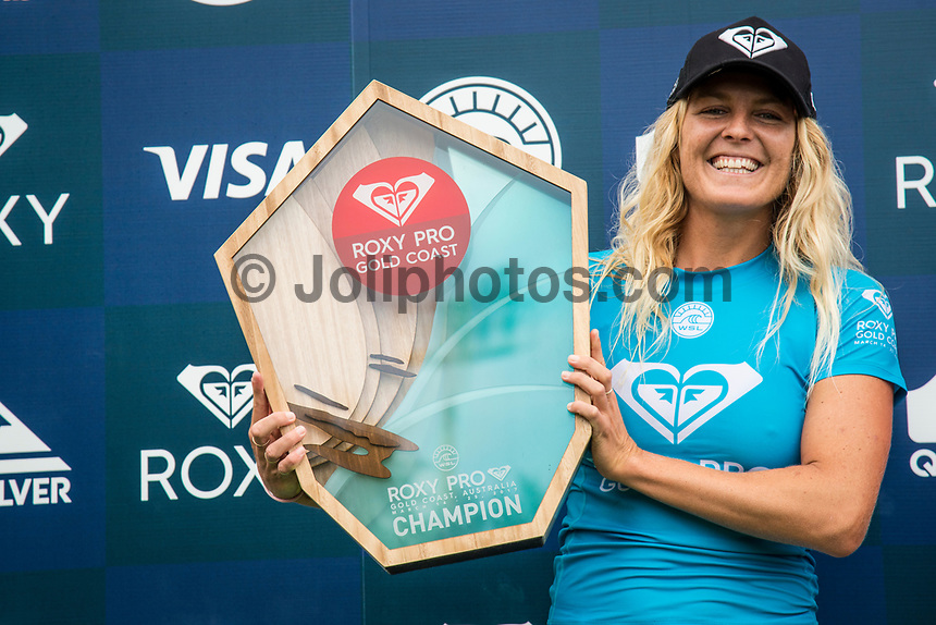 COOLANGATTA, Queensland/AUS (Sunday, March 19, 2017) Stephanie Gilmore (AUS) - The Quiksilver and Roxy Pro Gold Coast was called ON today in three - to - four foot (1 m) surf at Snapper Rocks. The event got underway at 7:05 a.m. with the Men's Quarterfinals followed by the Women's Quarterfinals and ran through to the finals with Owen Wright (AUS) posting a victory with his first event back from injury and Stephanie Gilmore (AUS) adding another Roxy Pro title to her name. Wright defeated defending event champion Matt Wilkinson(AUS) in an all goofy-foot final while Lakey Peterson (USA) was runner up to Gilmore.   Photo: joliphotos.com- The Quiksilver and Roxy Pro Gold Coast was called ON today in three - to - four foot (1 m) surf at Snapper Rocks. The event got underway at 7:05 a.m. with the Men's Quarterfinals followed by the Women's Quarterfinals and ran through to the finals with Owen Wright (AUS) posting a victory with his first event back from injury and Stephanie Gilmore (AUS) adding another Roxy Pro title to her name. Wright defeated defending event champion Matt Wilkinson(AUS) in an all goofy-foot final while Lakey Peterson (USA) was runner up to Gilmore.   Photo: joliphotos.com- The Quiksilver and Roxy Pro Gold Coast was called ON today in three - to - four foot (1 m) surf at Snapper Rocks. The event got underway at 7:05 a.m. with the Men's Quarterfinals followed by the Women's Quarterfinals and ran through to the finals with Owen Wright (AUS) posting a victory with his first event back from injury and Stephanie Gilmore (AUS) adding another Roxy Pro title to her name. Wright defeated defending event champion Matt Wilkinson(AUS) in an all goofy-foot final while Lakey Peterson (USA) was runner up to Gilmore.   Photo: joliphotos.com