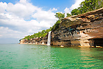 Spray Falls, Pictured Rocks National Lakeshore, summer, upper peninsula, michigan, lake superior, waterfalls, great lakes,