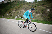 Vincenzo Nibali (ITA/Astana) training on the Coll de Rates (Alicante, Spain) at the 2015 Astana winter training camp