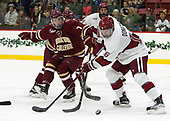 Connor Moore (BC - 7), Ryan Donato (Harvard - 16) - The Harvard University Crimson defeated the visiting Boston College Eagles 5-2 on Friday, November 18, 2016, at Bright-Landry Hockey Center in Boston, Massachusetts.{headline] - The Harvard University Crimson defeated the visiting Boston College Eagles 5-2 on Friday, November 18, 2016, at Bright-Landry Hockey Center in Boston, Massachusetts.