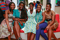 (Left to right) Lola Ogunnaike, Somi, Nikki Ogunnaike, Nana Eyeson-Akiwowo and Kimberly Wilson Marshall sitting together during the African Health Now - Fashion Fete event, at the Tracy Reese store on 641 Hudson Street, June 20, 2013.