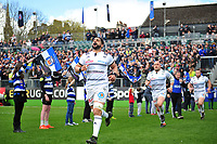 Said Hireche and the rest of the Brive team run out onto the field. European Rugby Challenge Cup Quarter Final, between Bath Rugby and CA Brive on April 1, 2017 at the Recreation Ground in Bath, England. Photo by: Patrick Khachfe / Onside Images