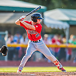 4 September 2016: Lowell Spinners infielder Andy Perez in action against the Vermont Lake Monsters at Centennial Field in Burlington, Vermont. The Spinners defeated the Lake Monsters 8-3 in NY Penn League action. Mandatory Credit: Ed Wolfstein Photo *** RAW (NEF) Image File Available ***