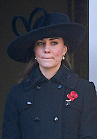 Kate fights back tears at Remembrance Service