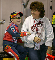 Young Jeff Gordon fan, UAW-GM Quality 500, Charlotte Motor Speedway, Charlotte, NC, October 11, 2003.  (Photo by Brian Cleary/bcpix.com)