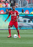 July 20, 2013: Toronto FC defender Ashtone Morgan #5 in action during a game between Toronto FC and the New York Red Bulls at BMO Field in Toronto, Ontario Canada.<br /> The game ended in a 0-0 draw.