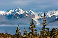 Port Wells, Chugach mountains, Cascade glacier, Chugach National Forest, Prince William Sound, southcentral, Alaska.